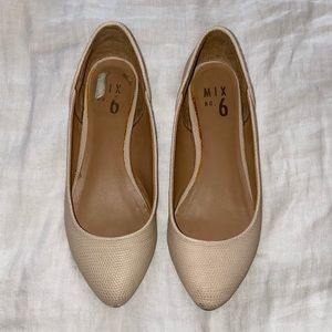 mix no. 6 tan faux leather flats in tan